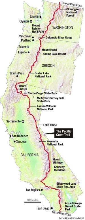 Pacific Crest Trail Map