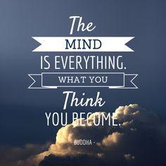 What you think you become buddha